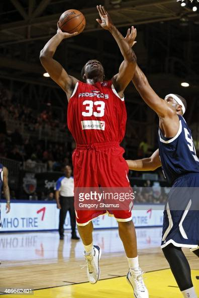 Ike Diogu of the Prospects drives to the basket against the Futures during the NBA DLeague AllStar Game at Sprint Arena as part of 2014 NBA AllStar...