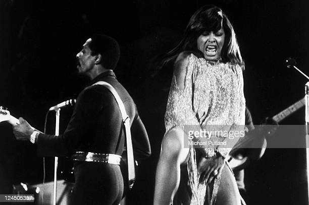 Ike Turner and Tina Turner perform on stage London 27th November 1973