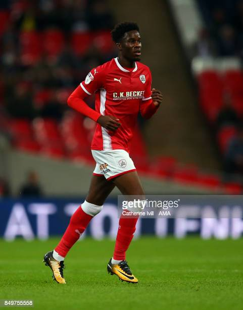 Ike Ugbo of Barnsley during the Carabao Cup Third Round match between Tottenham Hotspur and Barnsley at Wembley Stadium on September 19 2017 in...