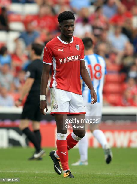 Ike Ugbo of Barnsley during the pre season friendly at Oakwell Stadium between Barnsley and Huddersfield Town on July 22 2017 in Barnsley England