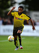 Ikechi Anya of Watford during the Pre Season Friendly match between St Albans City and Watford at Clarence Park on July 8 2015 in St Albans England