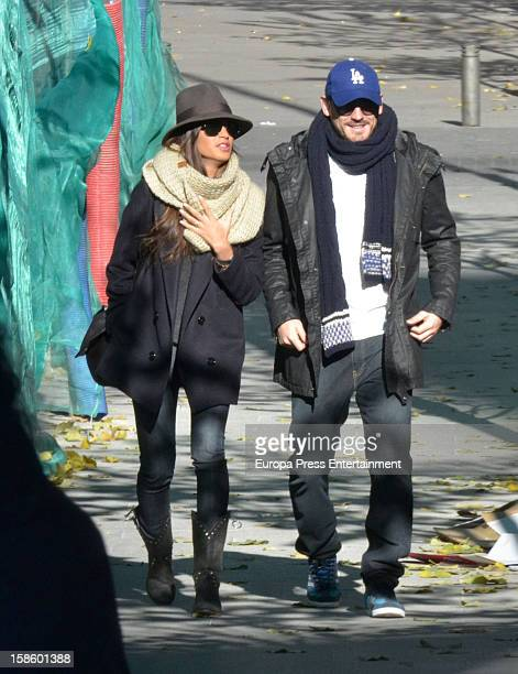 Iker Casillas and Sara Carbonero are seen on December 19 2012 in Madrid Spain