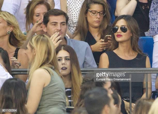Iker Casillas and Sara Carbonero attend Alejandro Sanz's concert 'Mas' at Vicente Calderon stadium on June 24 2017 in Madrid Spain