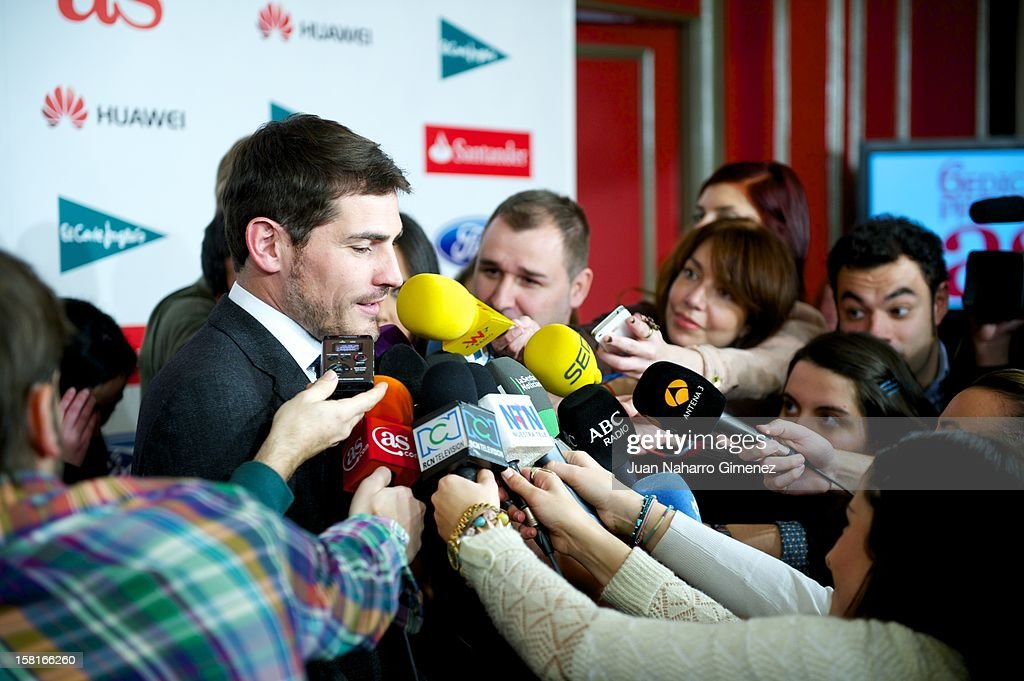<a gi-track='captionPersonalityLinkClicked' href=/galleries/search?phrase=Iker+Casillas&family=editorial&specificpeople=215446 ng-click='$event.stopPropagation()'>Iker Casillas</a> attends 'As del Deporte' awards 2012 at Palace Hotel on December 10, 2012 in Madrid, Spain.