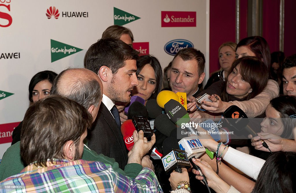 <a gi-track='captionPersonalityLinkClicked' href=/galleries/search?phrase=Iker+Casillas&family=editorial&specificpeople=215446 ng-click='$event.stopPropagation()'>Iker Casillas</a> gives interviews at the As Del Deporte' Awards 2012 on December 10, 2012 in Madrid, Spain.