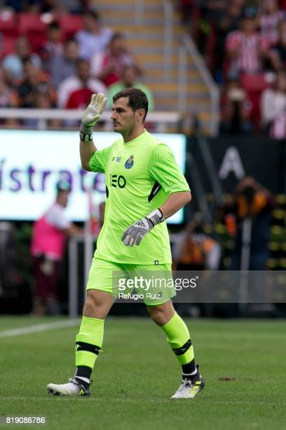 Iker Casillas goalkeeper of Porto walks in the field during the friendly match between Chivas and Porto at Chivas Stadium on July 19 2017 in Zapopan...