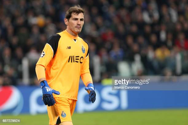 Iker Casillas of FC Porto during the UEFA Champions League Round of 16 second leg match between Juventus Turin and FC Porto at Juventus Stadium...