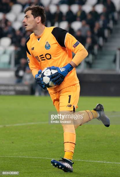 Iker Casillas of FC Porto in action during the UEFA Champions League Round of 16 second leg match between Juventus and FC Porto at Juventus Stadium...