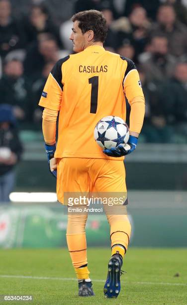 Iker Casillas of FC Porto looks on during the UEFA Champions League Round of 16 second leg match between Juventus and FC Porto at Juventus Stadium on...