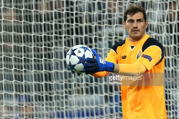 Iker Casillas of Porto at Juventus Stadium in Turin Italy on March 14 2017