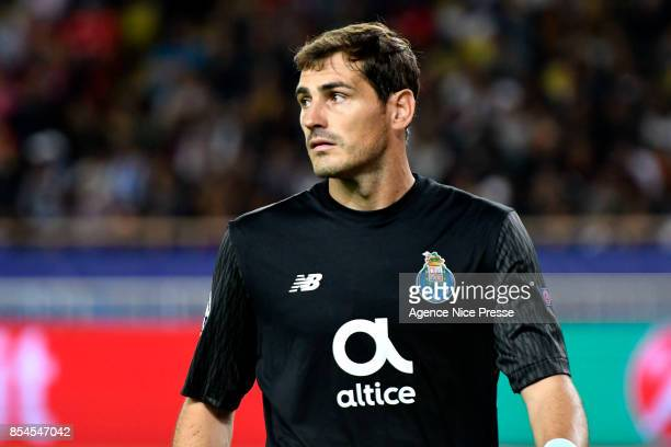 Iker Casillas of Porto during the Uefa Champions League match between As Monaco and Fc Porto on September 26 2017 in Monaco Monaco