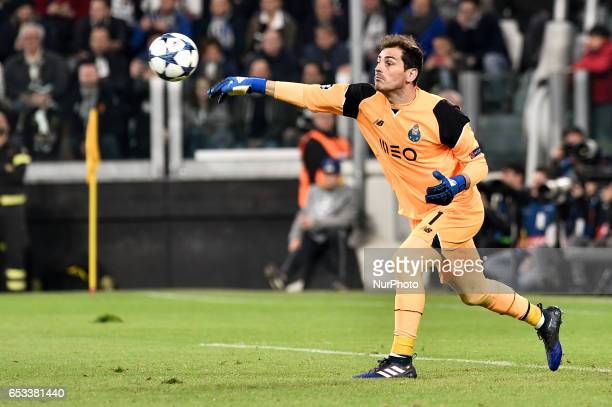 Iker Casillas of Porto during the UEFA Champions League Round of 16 game 2 match between Juventus and Porto at the Juventus Stadium Turin Italy on 14...