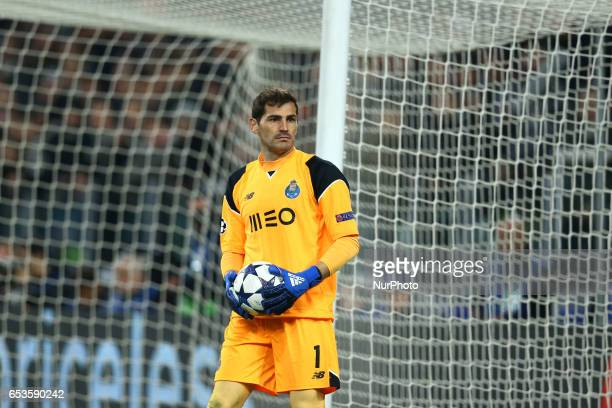 Iker Casillas of Porto during the UEFA Champions League Round of 16 second leg match between Juventus and FC Porto at Juventus Stadium on March 14...