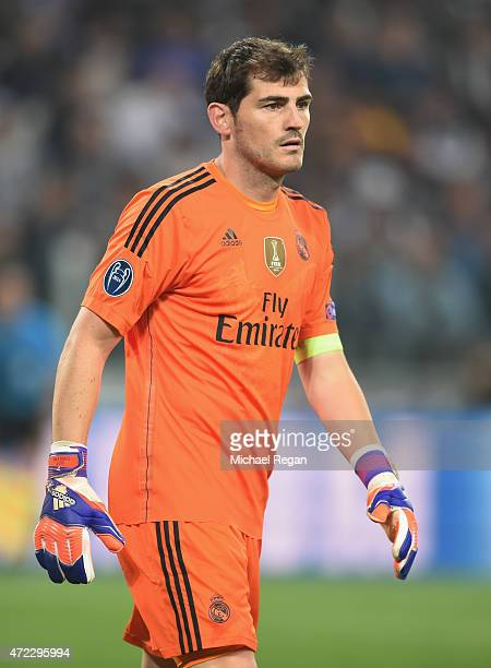 Iker Casillas of Real Madrid looks on during the UEFA Champions League semi final match between Juventus and Real Madrid at Juventus Arena on May 5...
