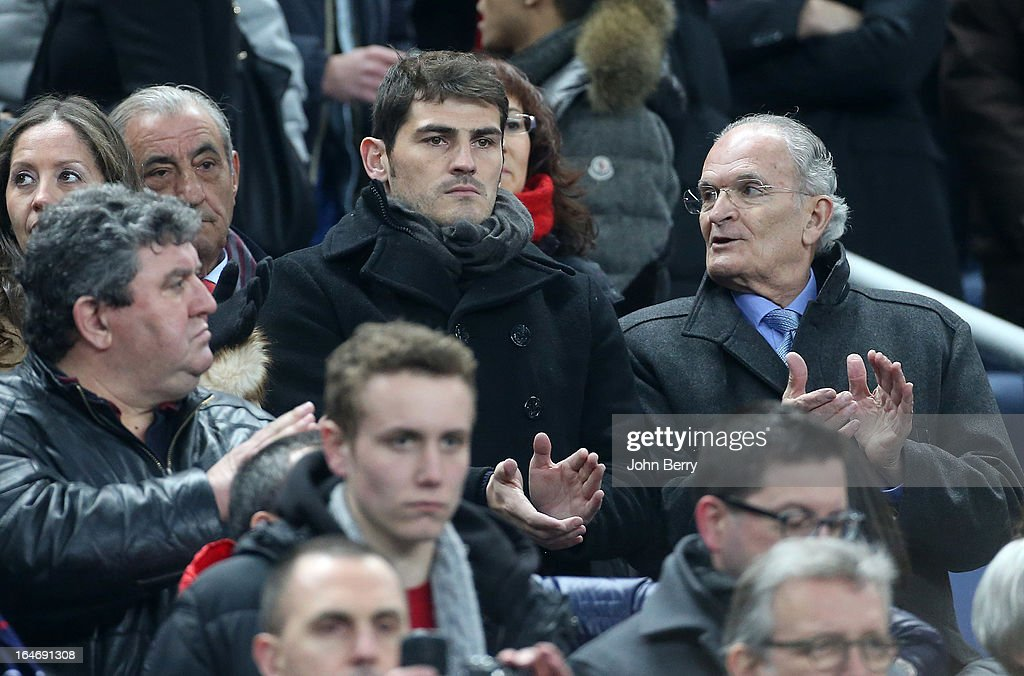Iker Casillas of Spain attends the FIFA World Cup 2014 qualifier match between France and Spain at the Stade de France on March 26, 2013 in Saint-Denis near Paris, France.