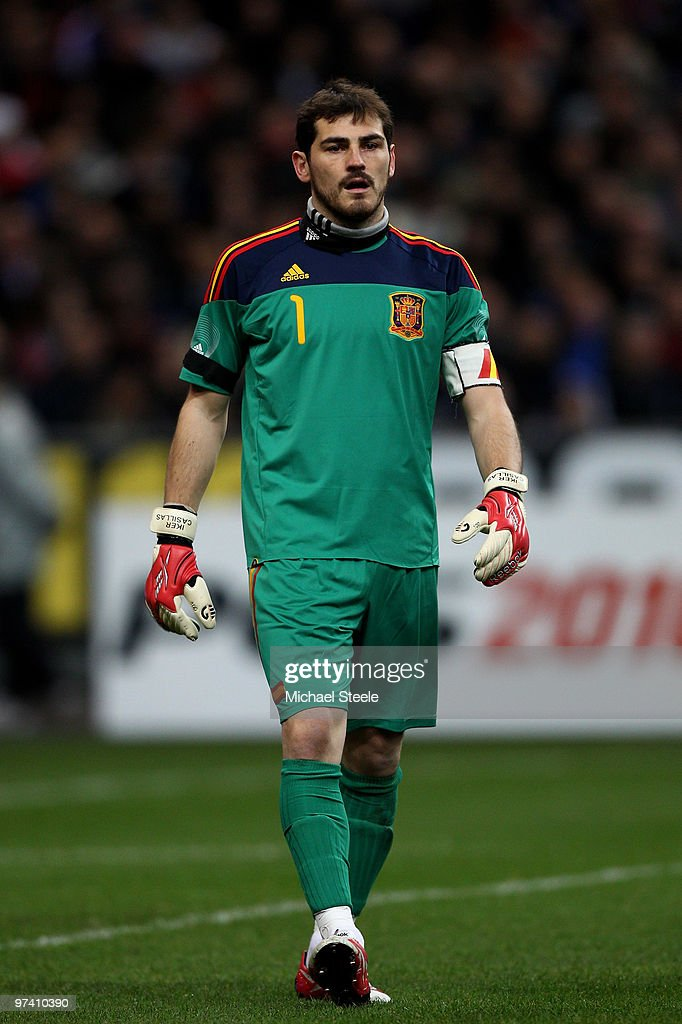 Iker Casillas of Spain during the France v Spain International Friendly match at the Stade de France on March 3, 2010 in Paris, France.