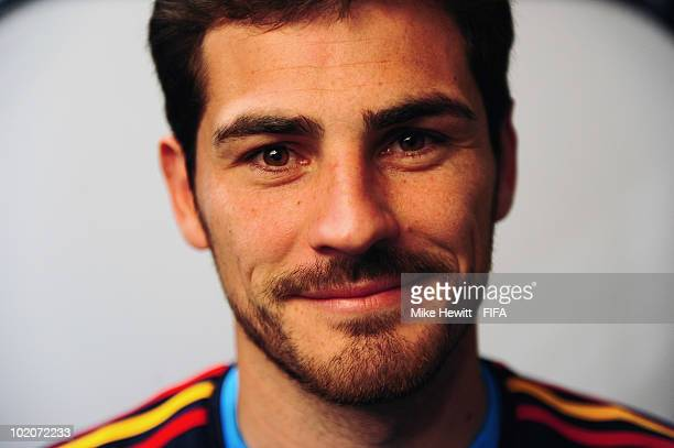 Iker Casillas of Spain poses during the official Fifa World Cup 2010 portrait session on June 13 2010 in Potchefstroom South Africa