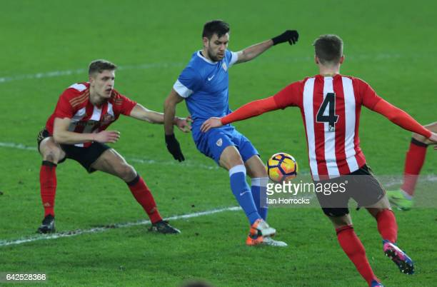Iker Hernandez of Bilbao during the Premier League International Cup Quarter Final match between Sunderland U23 and Athletic Bilbao U23 at the...