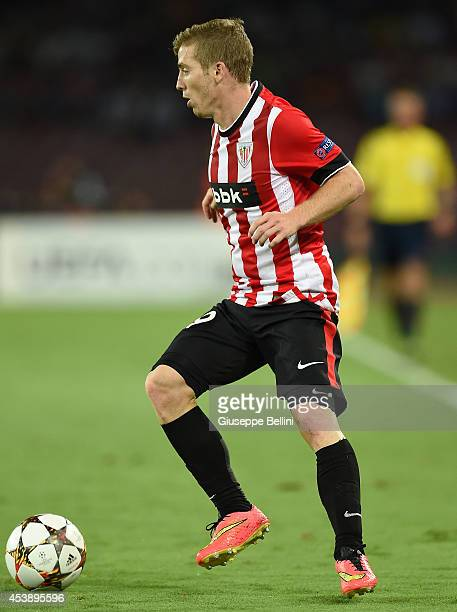 Iker Muniain of Athletic Bilbao in action during the first leg of UEFA Champions League qualifying playoffs round match between SSC Napoli and...