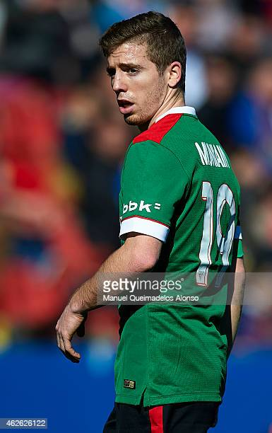 Iker Muniain of Athletic Club looks on during the La Liga match between Levante UD and Athletic Club at Ciutat de Valencia on Februray 01 2015 in...