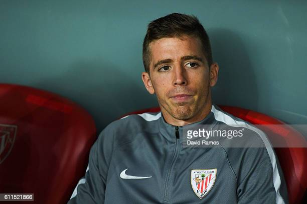 Iker Muniain of Athletic Club looks on during the UEFA Europa League Group F match between Athletic Club and SK Rapid Wien at San Mames stadium on...