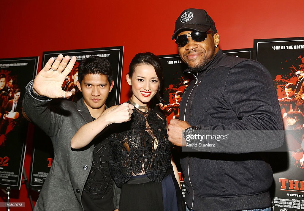 <a gi-track='captionPersonalityLinkClicked' href=/galleries/search?phrase=Iko+Uwais&family=editorial&specificpeople=8212160 ng-click='$event.stopPropagation()'>Iko Uwais</a>, <a gi-track='captionPersonalityLinkClicked' href=/galleries/search?phrase=Julie+Estelle&family=editorial&specificpeople=12383123 ng-click='$event.stopPropagation()'>Julie Estelle</a> and Jarrell 'Big Baby' Miller attend 'The Raid 2' special screening at Sunshine Landmark on March 17, 2014 in New York City.