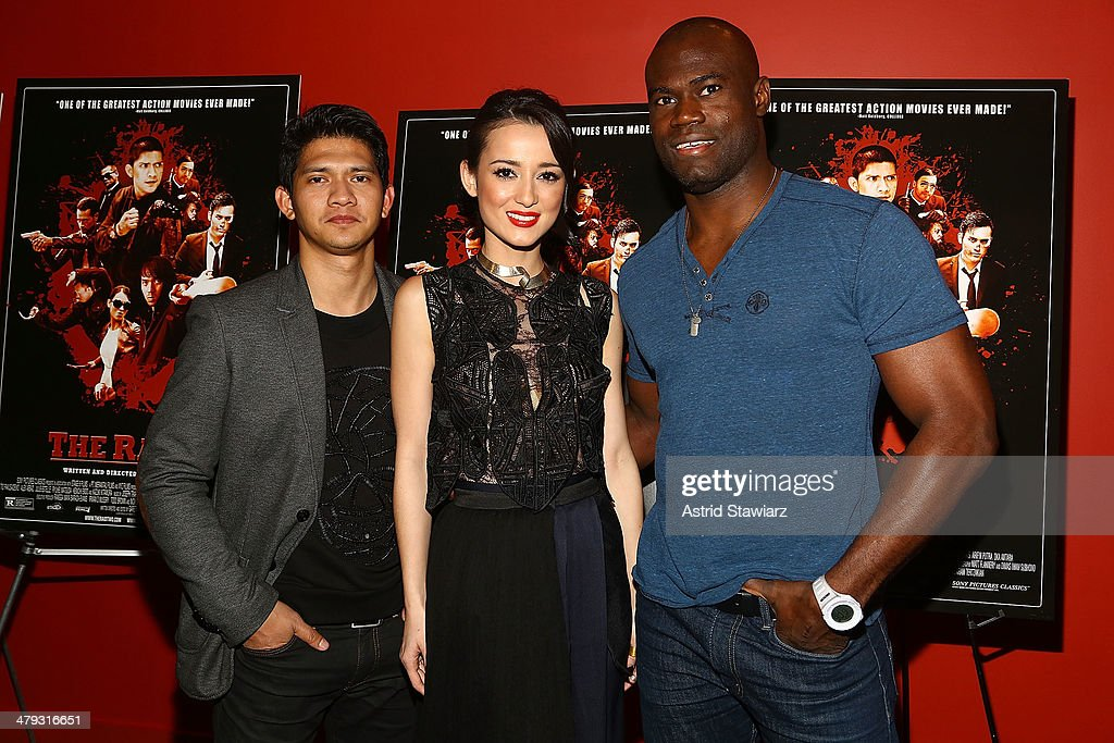 <a gi-track='captionPersonalityLinkClicked' href=/galleries/search?phrase=Iko+Uwais&family=editorial&specificpeople=8212160 ng-click='$event.stopPropagation()'>Iko Uwais</a>, <a gi-track='captionPersonalityLinkClicked' href=/galleries/search?phrase=Julie+Estelle&family=editorial&specificpeople=12383123 ng-click='$event.stopPropagation()'>Julie Estelle</a> and Uriah Hall attend 'The Raid 2' special screening at Sunshine Landmark on March 17, 2014 in New York City.