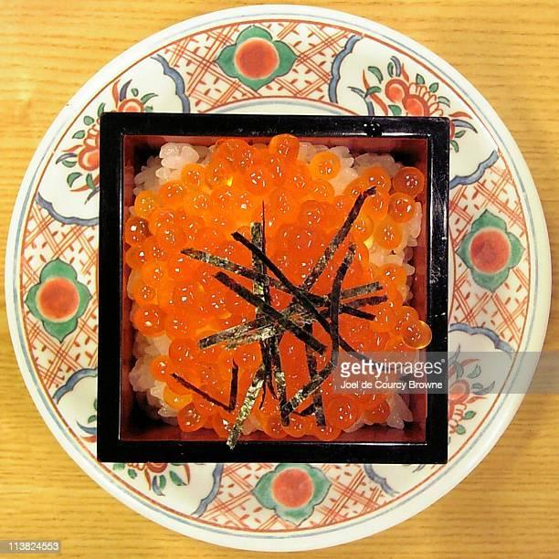 Ikura Don (Salmon Roe on Rice)