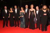 'Il Divo' cast and crew members arrive for the 'Il Divo' premiere at the Palais des Festivals during the 61st International Cannes Film Festival on...