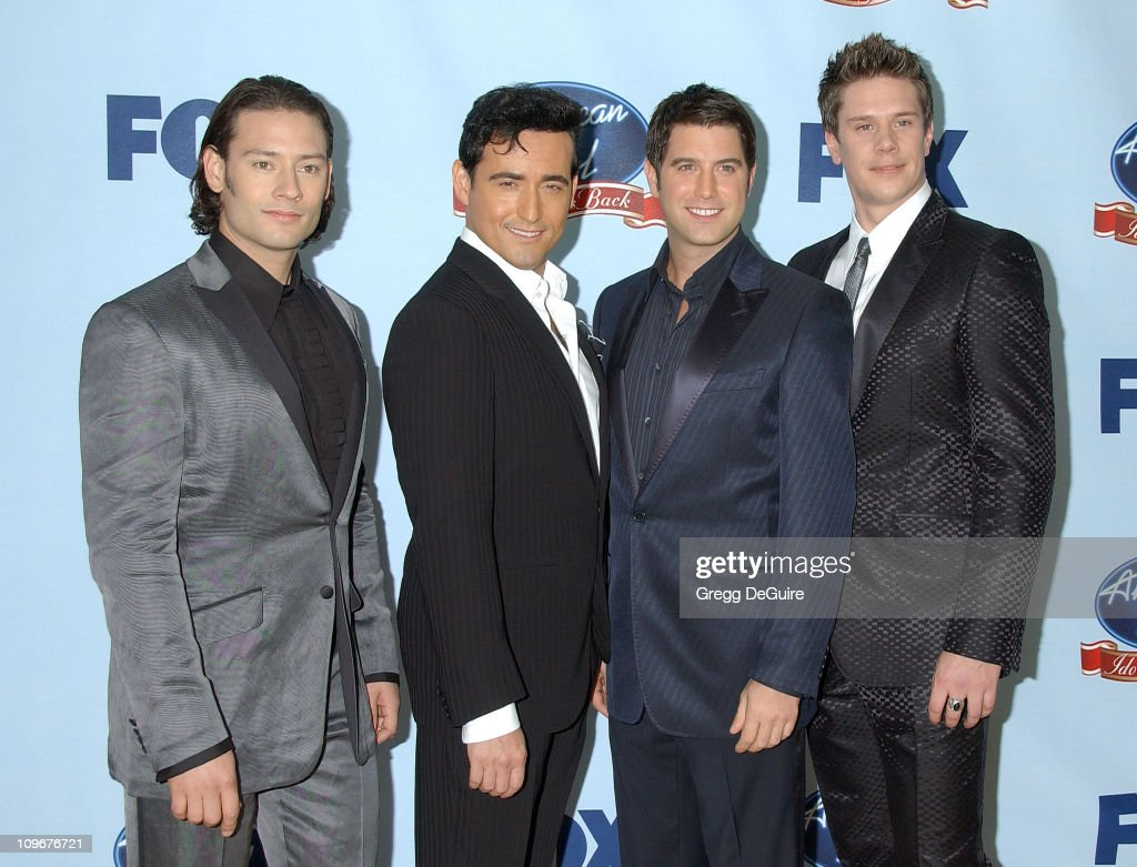 Il Divo during 'American Idol' Gives Back - Photo Room at Walt Disney Concert Hall in Los Angeles, California, United States.