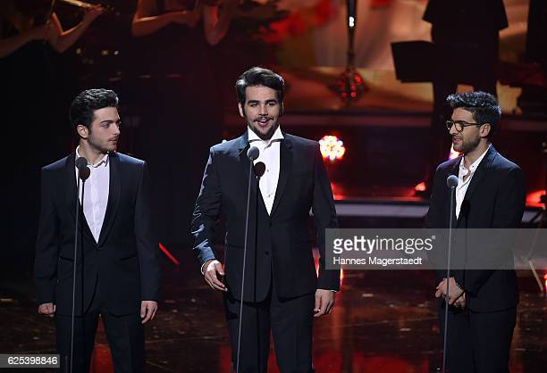 Il Volo during the tv show 'Heiligabend mit Carmen Nebel' on November 23 2016 in Munich Germany The show will air on December 24 2016