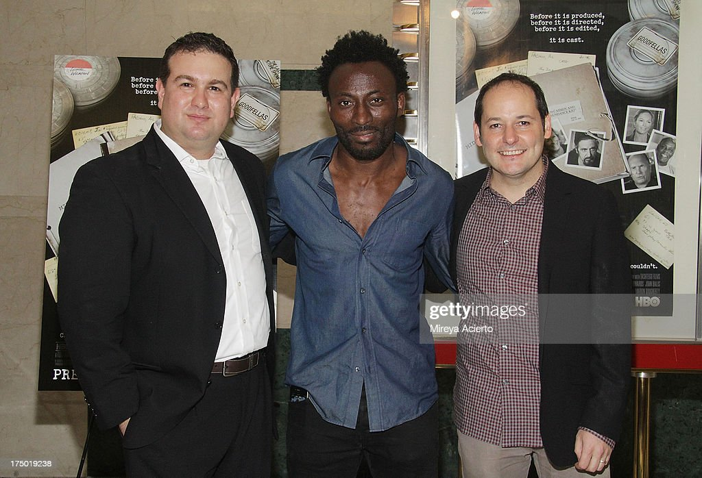 Ilan Arboleda, Babs Olusanmokun and Tom Donahue attend the 'Casting By' premiere at HBO Theater on July 29, 2013 in New York City.
