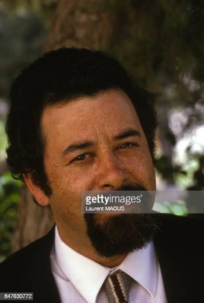 Ilan Halevi intellectuel juif et palestinien proche de Yasser Arafat le 14 avril 1983 en Jordanie
