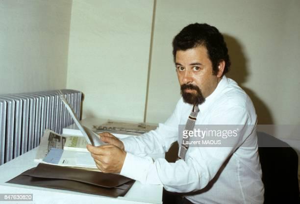 Ilan Halevi intellectuel juif et palestinien proche de Yasser Arafat le 15 avril 1983 en Jordanie