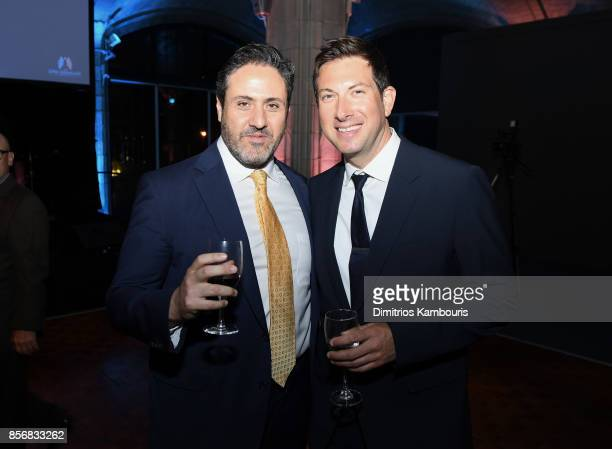 Ilan Sandberg and Evan Rubin attend the Lung Transplant Project Gala with special guest Patti LaBelle at Guastavino's on October 2 2017 in New York...