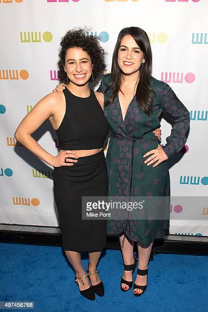 Ilana Glazer and Abbi Jacobson attend the 2015 Worldwide Orphan Gala at Cipriani Wall Street on November 16 2015 in New York City