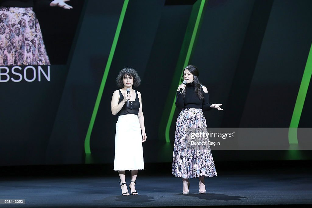<a gi-track='captionPersonalityLinkClicked' href=/galleries/search?phrase=Ilana+Glazer&family=editorial&specificpeople=10861068 ng-click='$event.stopPropagation()'>Ilana Glazer</a> and <a gi-track='captionPersonalityLinkClicked' href=/galleries/search?phrase=Abbi+Jacobson&family=editorial&specificpeople=12333694 ng-click='$event.stopPropagation()'>Abbi Jacobson</a> of Broad City speak at the 2016 Hulu Upftont on May 04, 2016 in New York, New York.