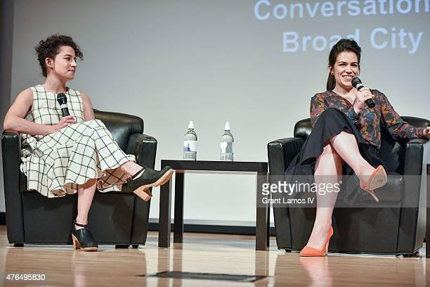 Ilana Glazer and Abbi Jacobson speak at the SAG Foundation Presents A Conversation With Ilana Glazer and Abbi Jacobson Of 'Broad City' at NYIT...