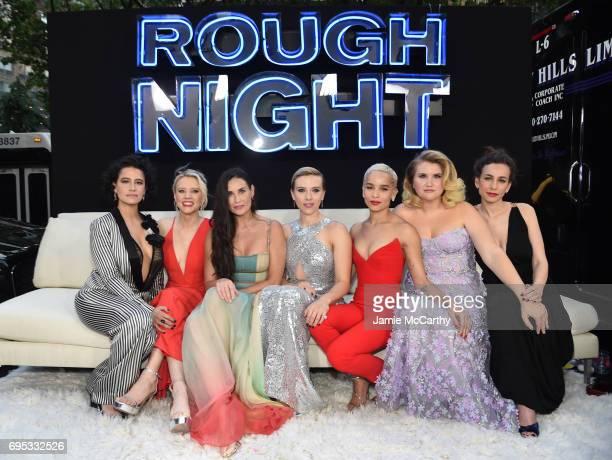 Ilana Glazer Kate McKinnon Demi Moore Scarlett Johansson Zoe Kravitz Jillian Bell and Lucia Aniello attend New York Premiere of Sony's ROUGH NIGHT...
