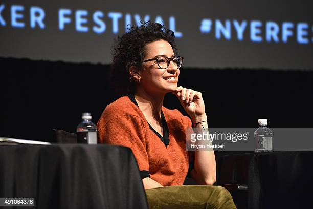 Ilana Glazer speaks onstage during The New Yorker Festival 2015 Ilana Glazer Abbi Jacobson talk with Emily Nussbaum at SVA Theater on October 2 2015...