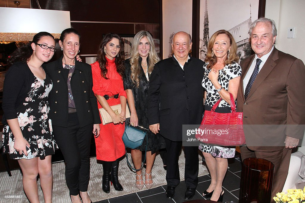 Ilana Hollender, Karina Grosskopf, Dayan Candamil,Dayan Candamil, Alberto Vignatelli, Angela Zapata, Raquel Grosskopf and Sergio Grosskopf attend Fendi Casa Art Basel cocktail party on December 5, 2013 in Miami, Florida.