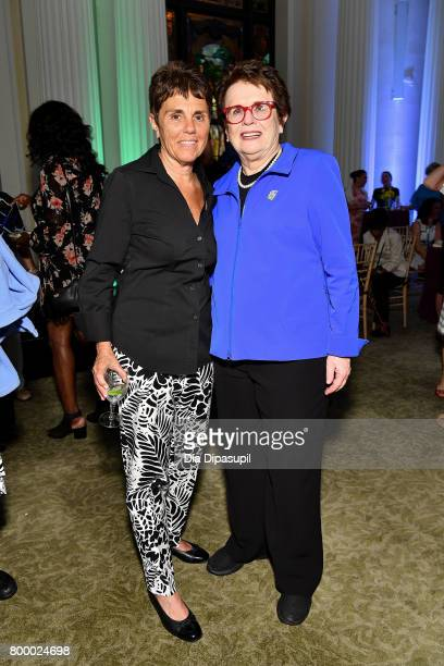 Ilana Kloss and Women's Sports Foundation founder Billie Jean King attend the Women's Sports Foundation 45th Anniversary of Title IX celebration at...