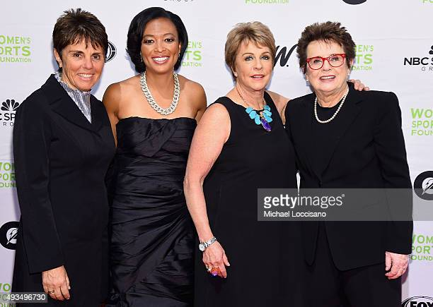 Ilana Kloss Angela Hucles Deborah Slaner Larkin and Billie Jean King attend the 36th Annual Salute to Women In Sports at Cipriani Wall Street on...