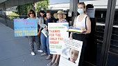 Arizona Parents Gather Outside Senator Sinema's Phoenix...