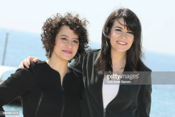 Ilana Wexler and Abbi Abrams attend photocall for 'Broad City' at Hotel Majestic Jetty on April 7 2014 in Cannes France