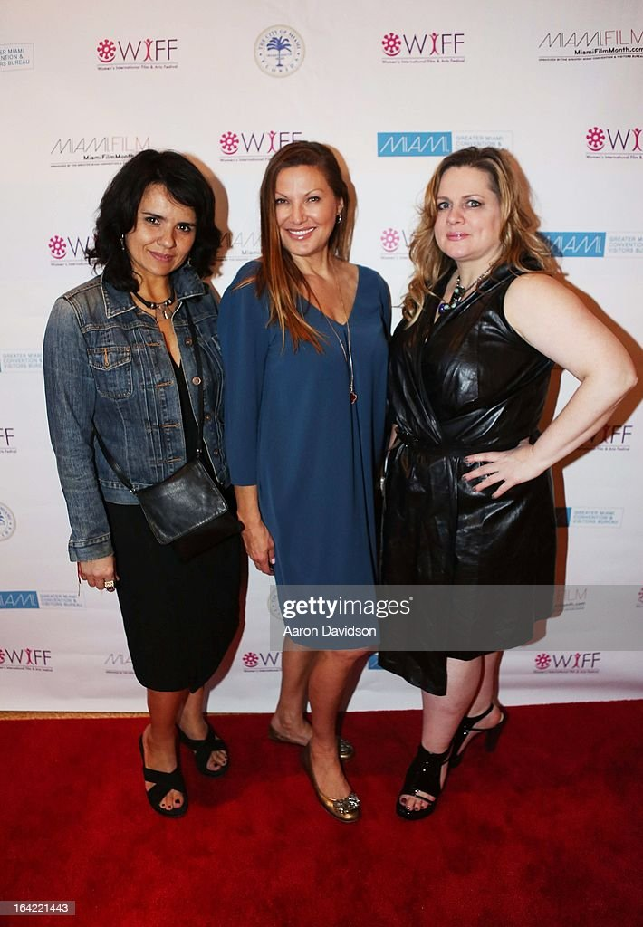 Ilaria borrelli, Lilliana ÊKomorowska. and Jennie WalkerÊ attend opening night screening of 'Free Angela' during the 2013 Women's International Film and Arts Festiva> at Adrienne Arsht Center on March 20, 2013 in Miami, Florida.