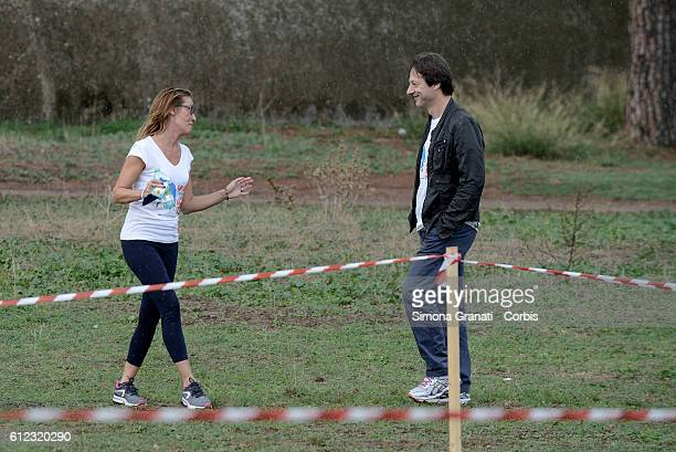 Ilaria Cucchi sister of Stefano and Luca Bergamo the councilor for Culture in Rome attend the Marathon at the park of the Aqueducts in memory of...