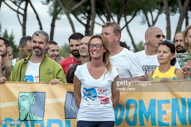 Ilaria Cucchi starts the second edition of the Memorial 'Run with Stephen' sporting event to remember surveyor Stefano Cucchi died in 2009 while on...