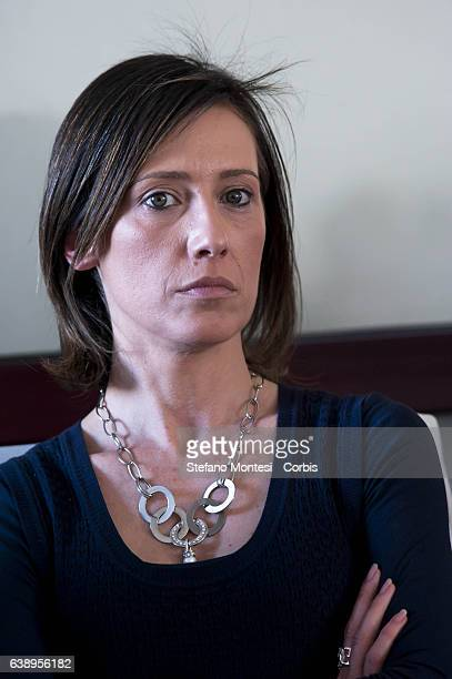 Ilaria Cucchi the sister of Stefano Cucchi the surveyor Roman age 31 died October 22 while in police custody after an arrest for drug by carabinieri...