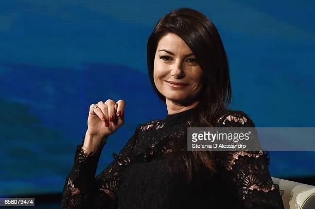 Ilaria D'Amico attends 'Che Tempo Che Fa' tv show on March 26 2017 in Milan Italy
